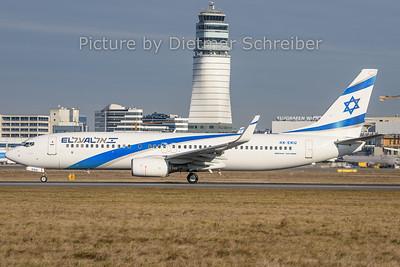 2019-12-30 4X-EKU Boeing 737-800 El Al