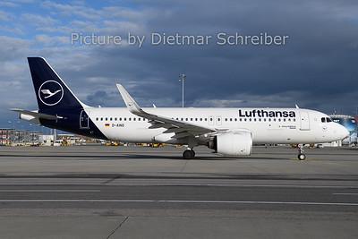 2019-12-25 D-AINO Airbus A320neo Lufthansa