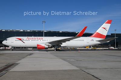 2021-02-15 OE-LAZ Boeing 767-300 AUstrian Airlines