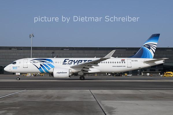 2021-02-23 SU-GFB Airbus A220-300 Egypt Air
