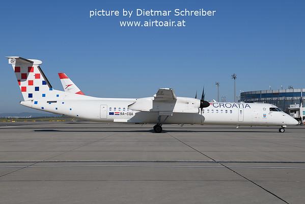 2021-09-09 9A-CQA Dash8-400 Croatia Airlines