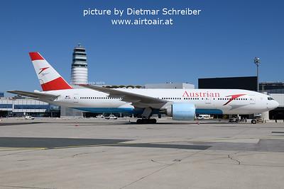 2021-09-09 OE-LPE Boeing 777-200 Austrian AIrlines
