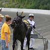 Absolute Ambience and Roland Sears after the first race.