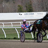 Steve Nason parades Sheeza Hottie Girl before the First Race.