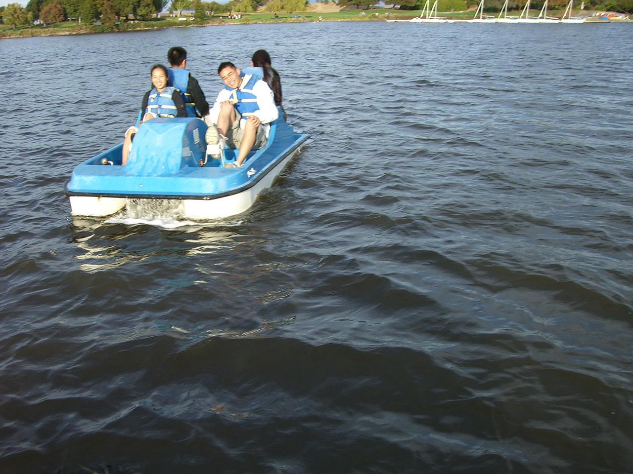 Jenny Alyono, Michael Lin, Ben Poon, & Jenn Kim's boat