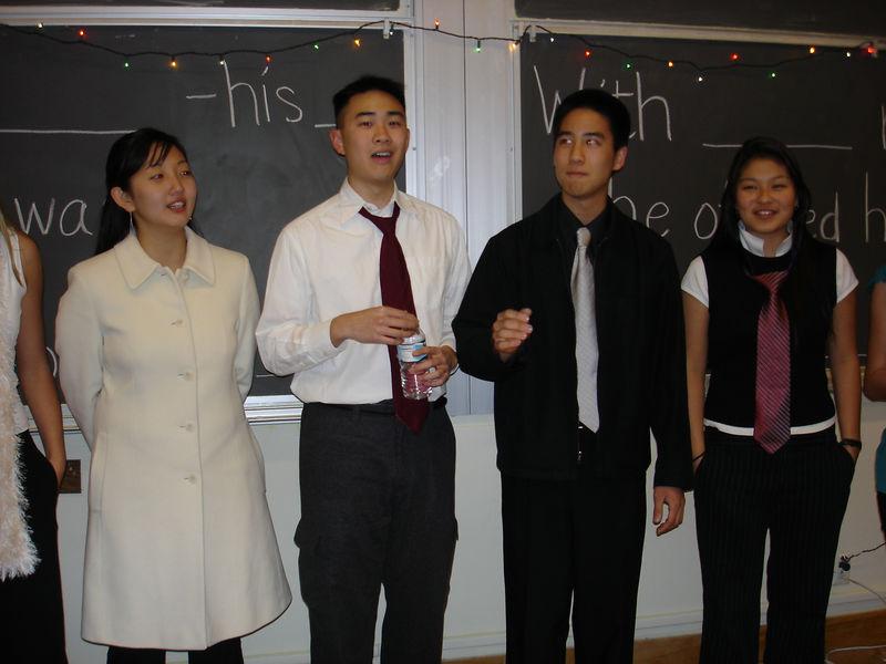 2005 12 04 Sun - Lydia Im, Ben Poon, Jedidiah Chow, & Jenn Kim