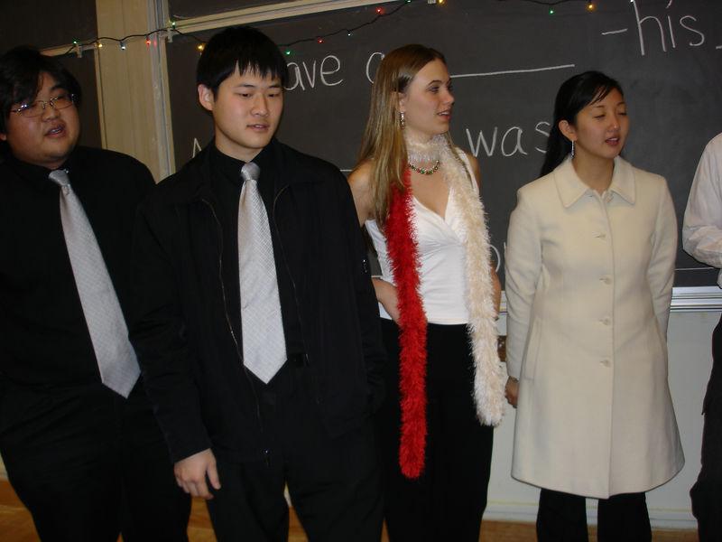 2005 12 04 Sun - Joseph Cho, Timothy Paik, Allie Dunworth, & Lydia Im