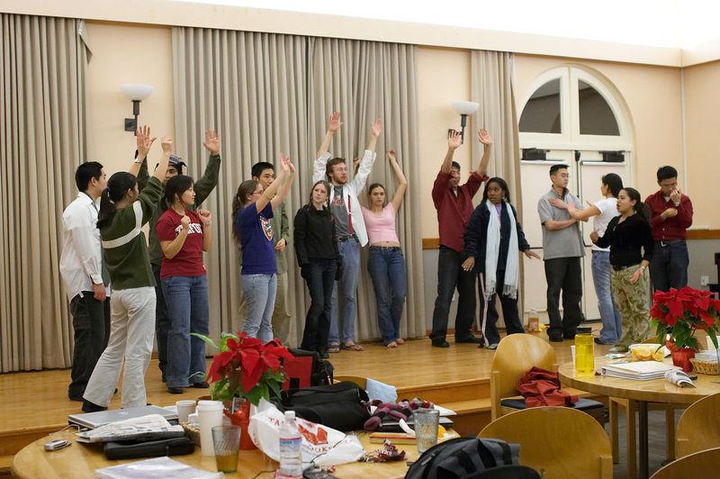2005 12 09 Fri - Late night rehearsal 40 - Joyful Joyful 27