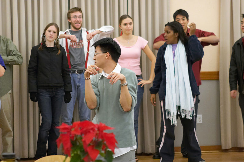 2005 12 09 Fri - Late night rehearsal 20 - Joyful Joyful 7 - Lame Chipmunk Ben Yu