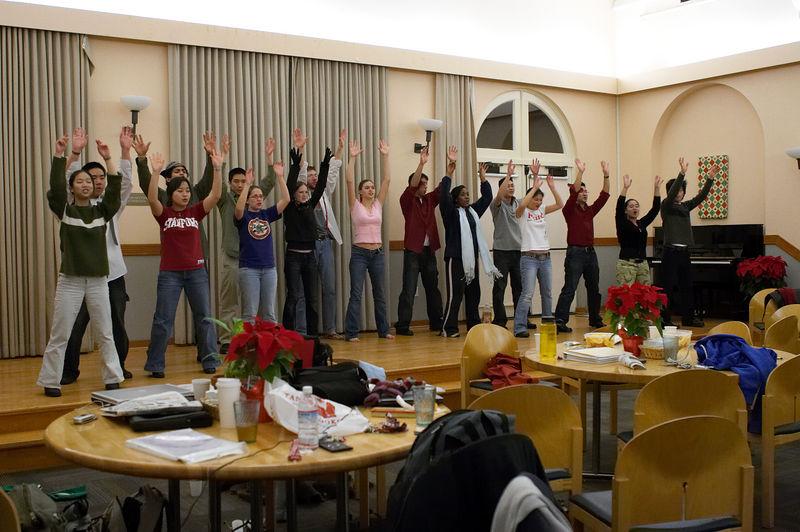 2005 12 09 Fri - Late night rehearsal 41 - Joyful Joyful 28