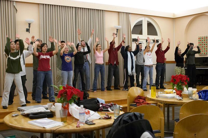 2005 12 09 Fri - Late night rehearsal 42 - Joyful Joyful 29