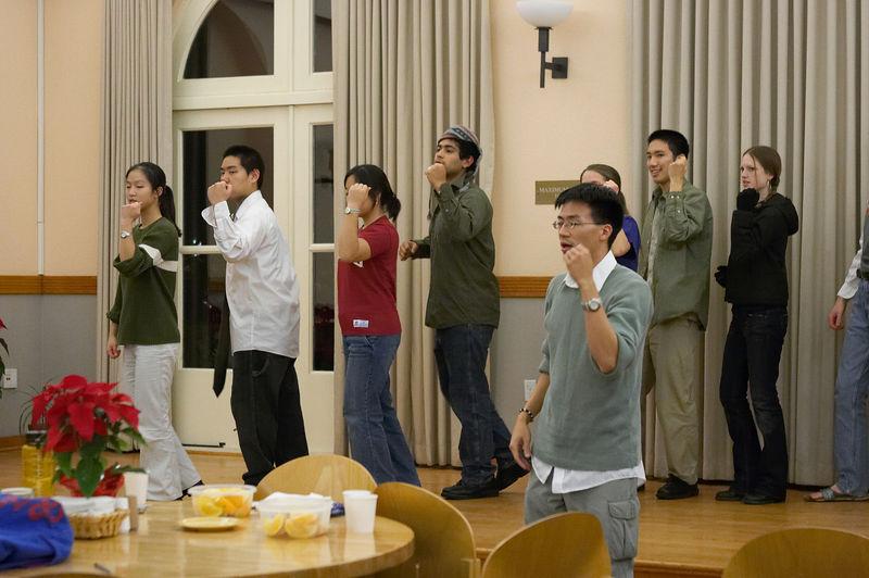 2005 12 09 Fri - Late night rehearsal 24 - Joyful Joyful 11