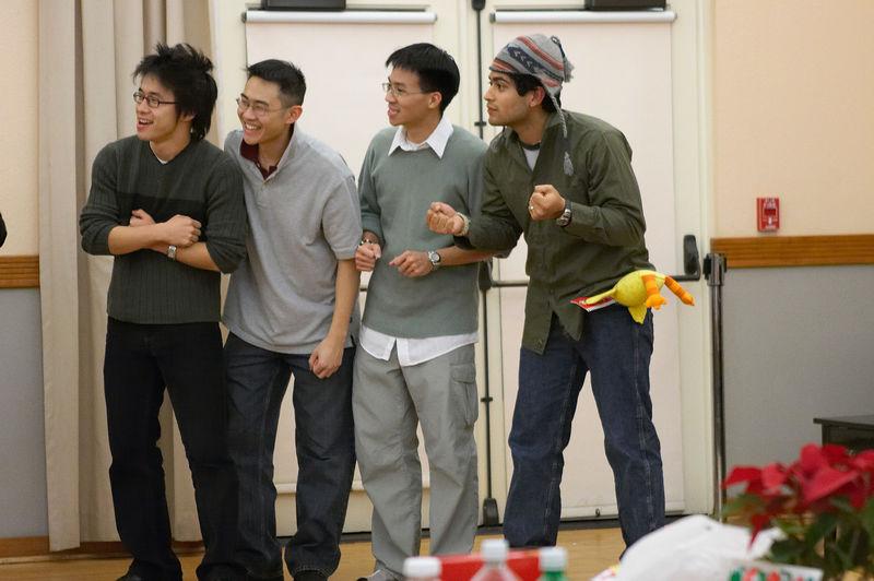 2005 12 09 Fri - Late night rehearsal 47 - Skits - Tenors