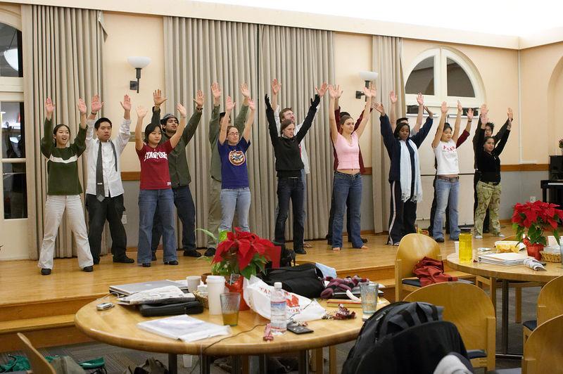 2005 12 09 Fri - Late night rehearsal 43 - Joyful Joyful 30