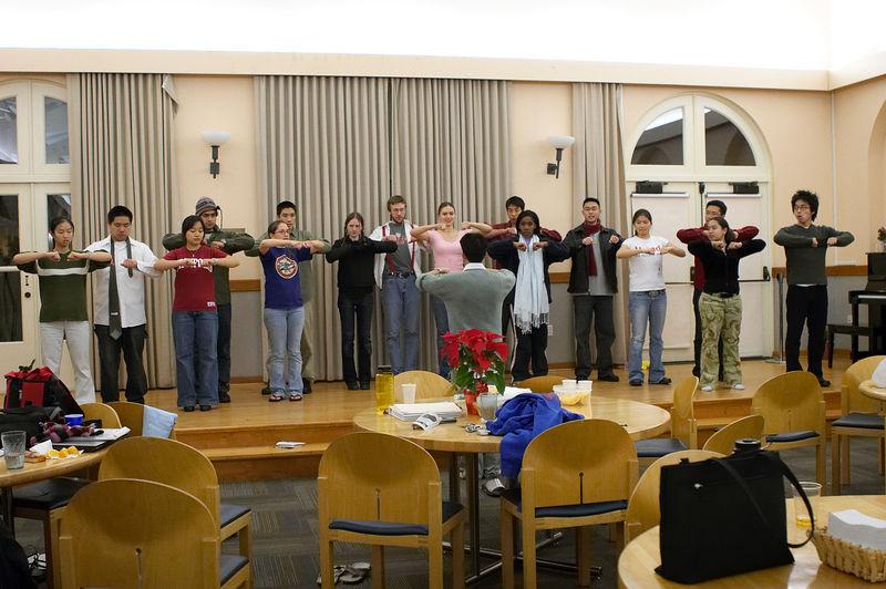 2005 12 09 Fri - Late night rehearsal 14 - Joyful Joyful 1