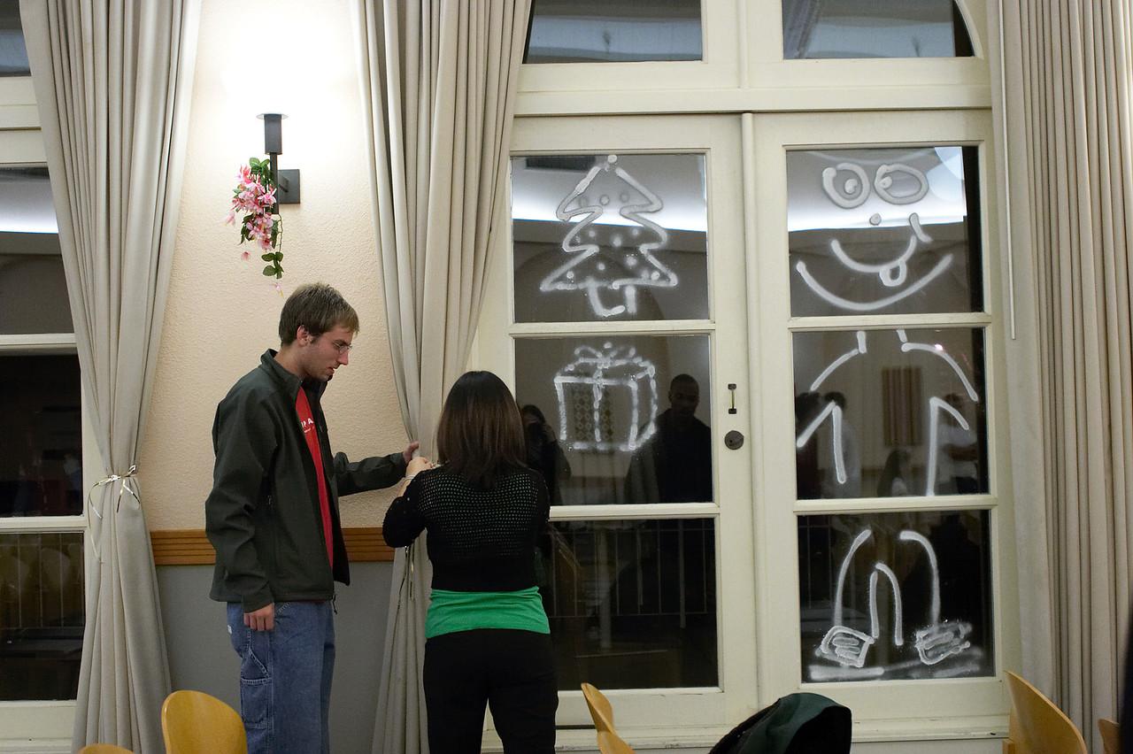 2005 12 10 Sat - David Scudder & Esther Kang tie curtains
