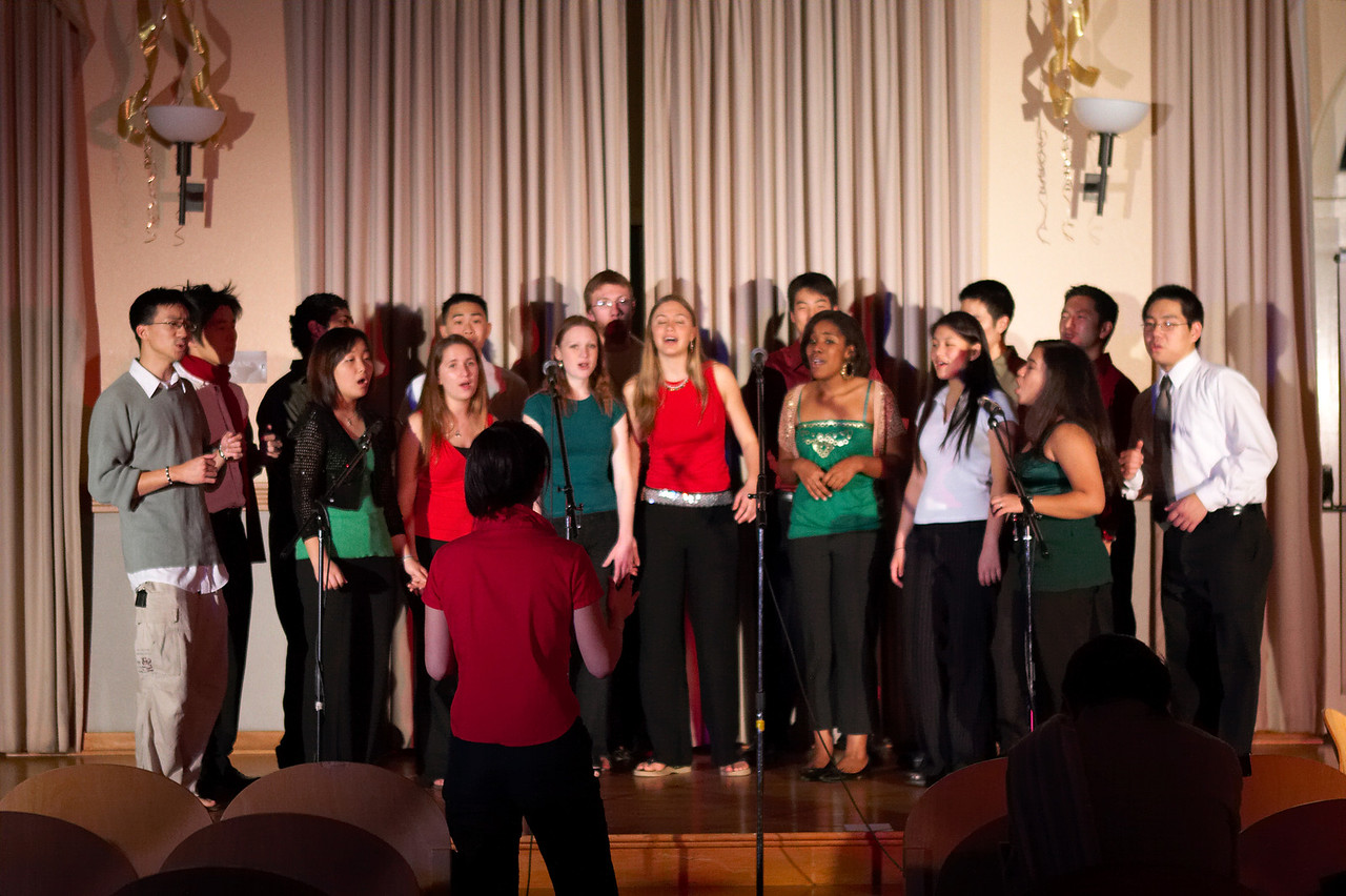 2005 12 10 Sat - Rehearsing Joyful Joyful 10 - with stage lights