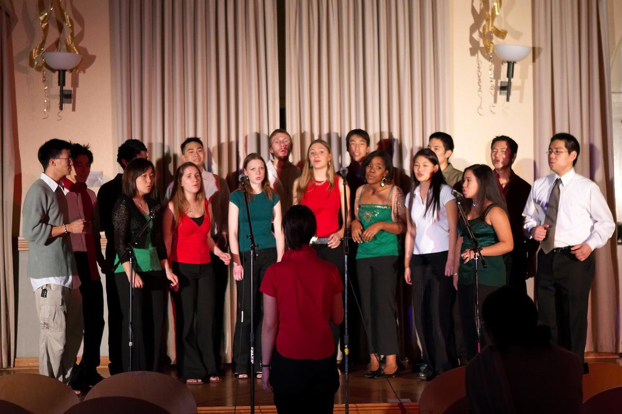 2005 12 10 Sat - Rehearsing Joyful Joyful 11 - with stage lights