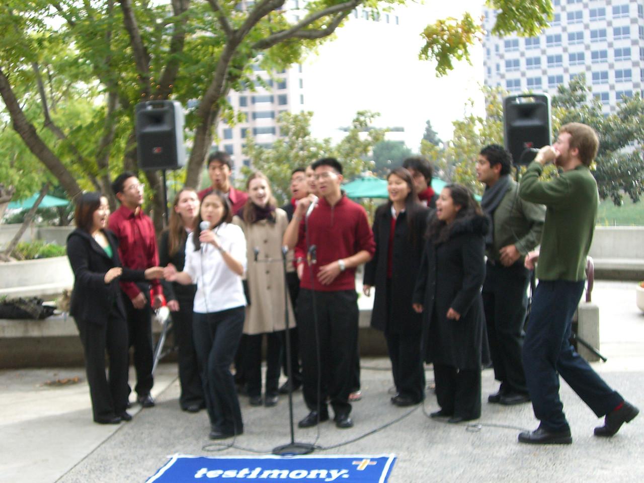 2005 12 18 Sun - Lake Ave Church - Jenny Alyono & Ben Yu on Emmanuel 4
