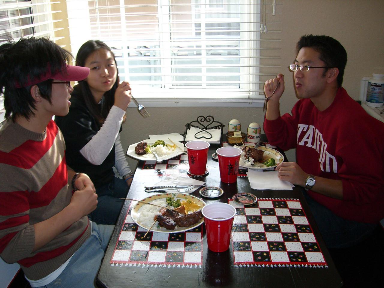 2005 12 18 Sun - Lake Ave Church - Hyungsoo Kim, Jenny Alyono, & Bryan Lung grub