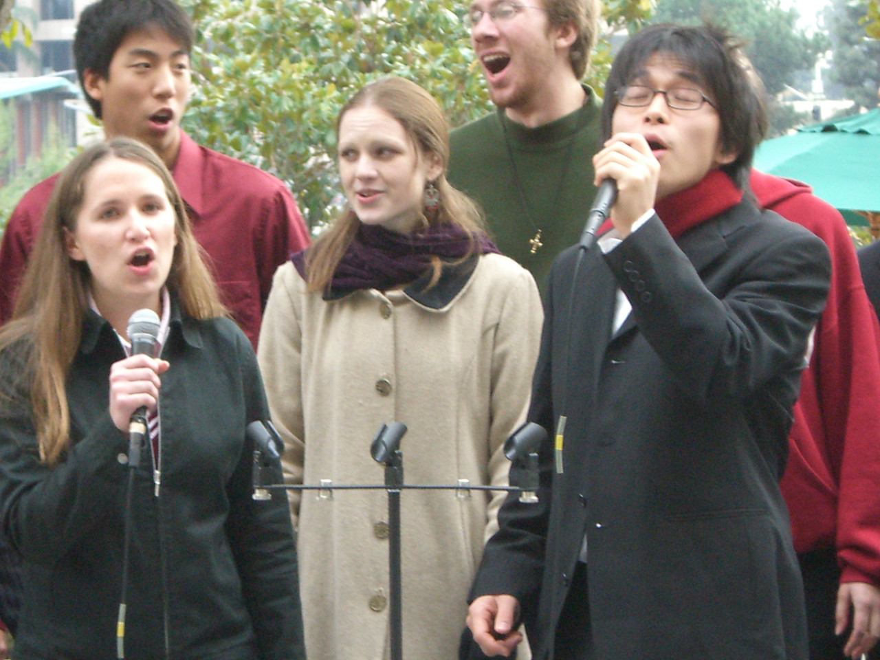 2005 12 18 Sun - Lake Ave Church - Jenna Sloat & Hyungsoo Kim on I Celebrate The Day 2