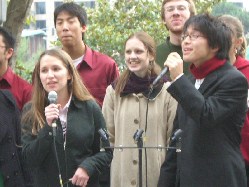 2005 12 18 Sun - Lake Ave Church - Jenna Sloat & Hyungsoo Kim on I Celebrate The Day 3