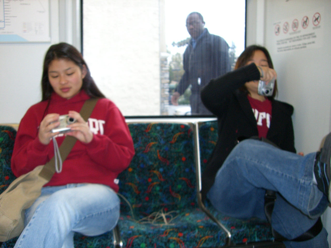 2005 12 19 Mon - One and a half Korean ladies on a train