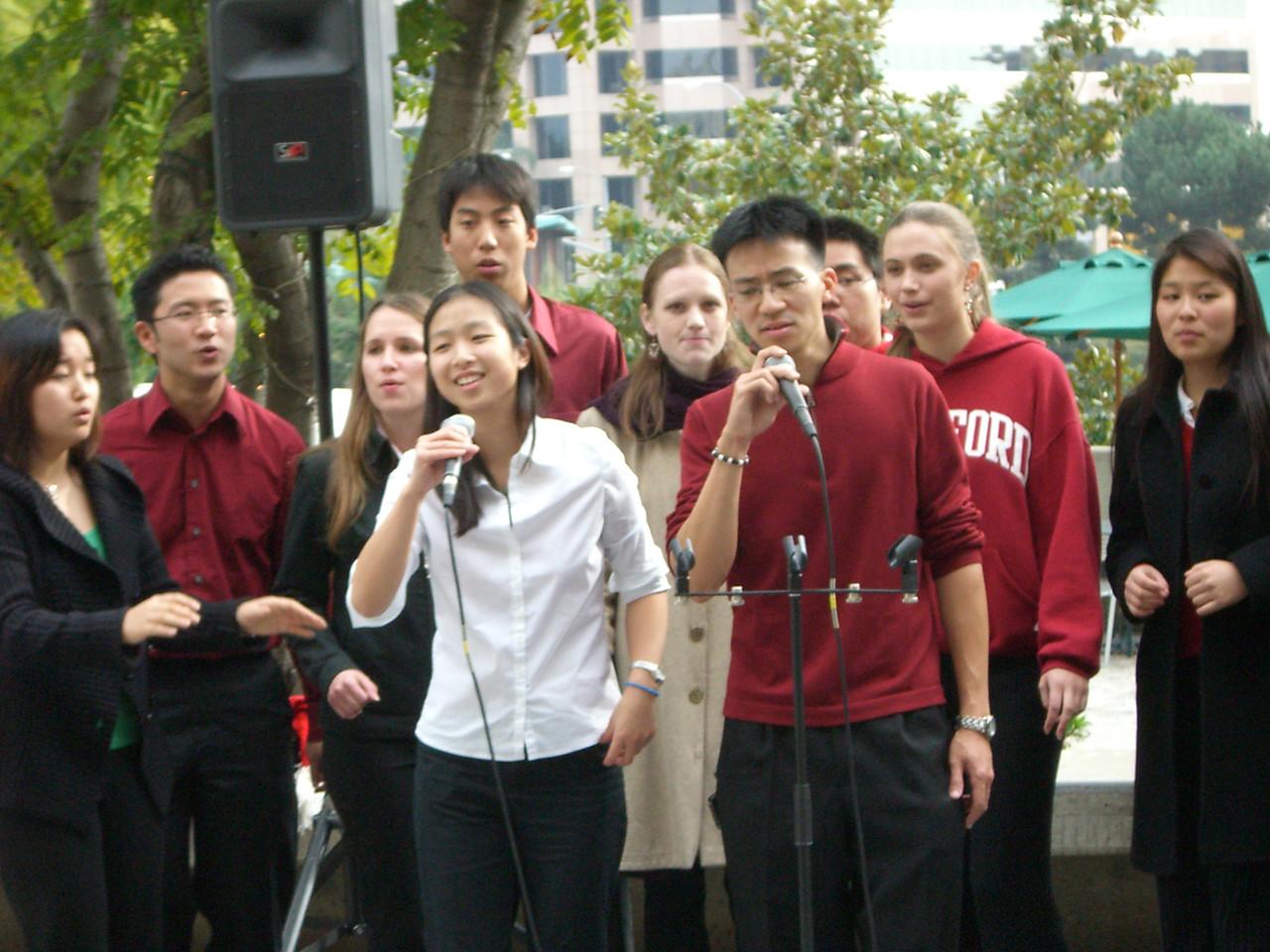 2005 12 18 Sun - Lake Ave Church - Jenny Alyono & Ben Yu on Emmanuel 2