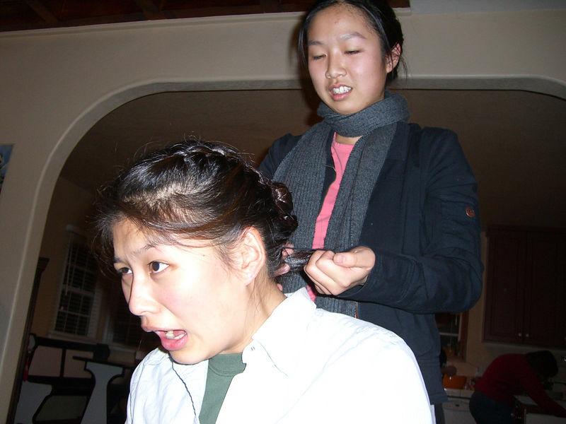 2005 12 17 Sat - Jenny Alyono gives Jenn Kim a facelift