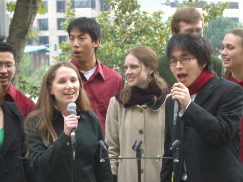 2005 12 18 Sun - Lake Ave Church - Jenna Sloat & Hyungsoo Kim on I Celebrate The Day 1