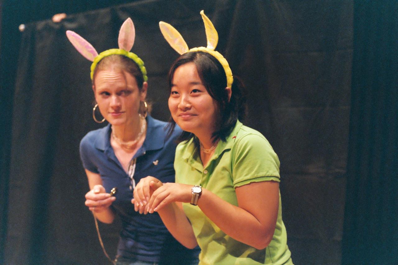 2006 05 19 Fri - White & Asian Rabbits - Emily Dalton & Esther Kang