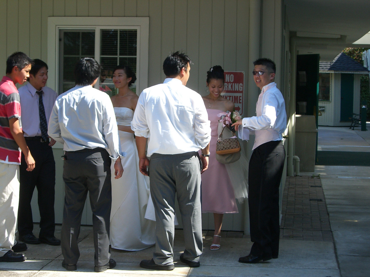 2006 06 24 Sat - Wedding party & helpers after the ceremony