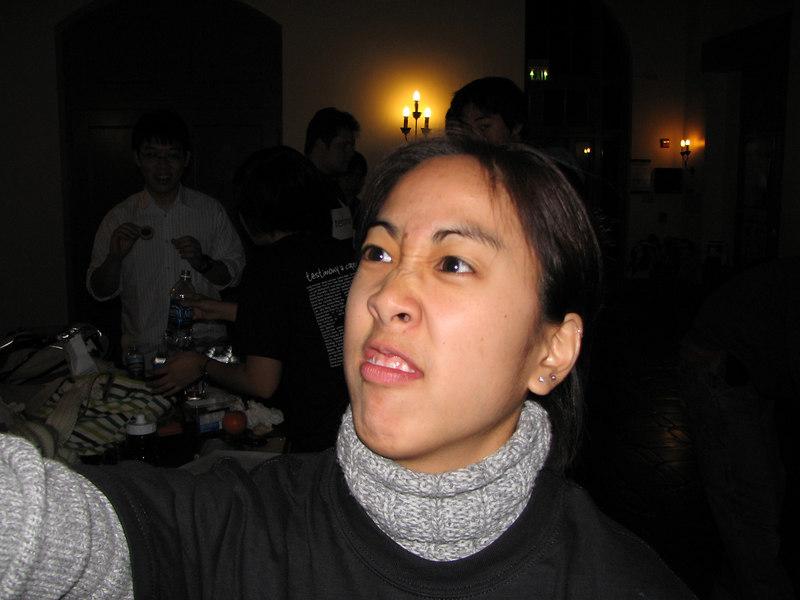 2006 12 01 Fri - Christi Chew flares her nostrils