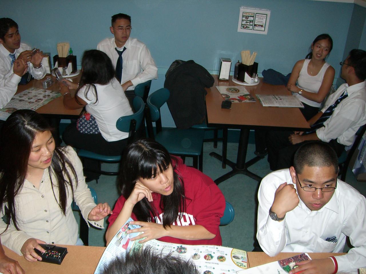 2005 10 22 Sat - Candid Jenn Kim, LeAann Duong, & David Chiang from above