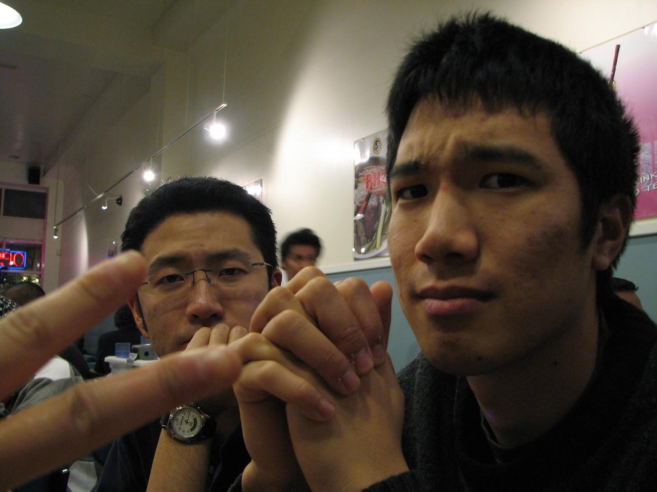 2007 01 28 Sun - Bryan Lung & Michael Lin praying for pho