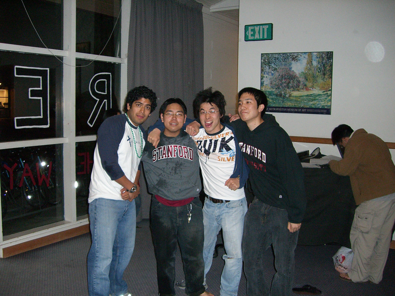 2006 03 01 Wed - David Chiang's B-day - Pablo Pozo, David Chiang, Hyungsoo Kim, & Michael Lin 2