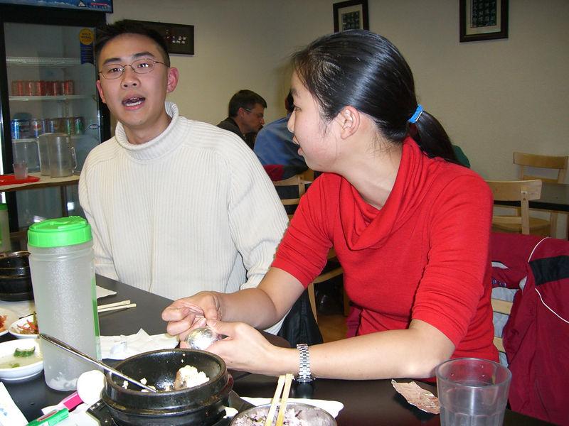 2005 12 06 Tue - Poon & Jenny Alyono @ Tofu House