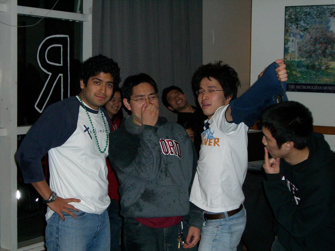 2006 03 01 Wed - David Chiang's B-day - Pablo Pozo, David Chiang, Hyungsoo Kim, & Michael Lin 1