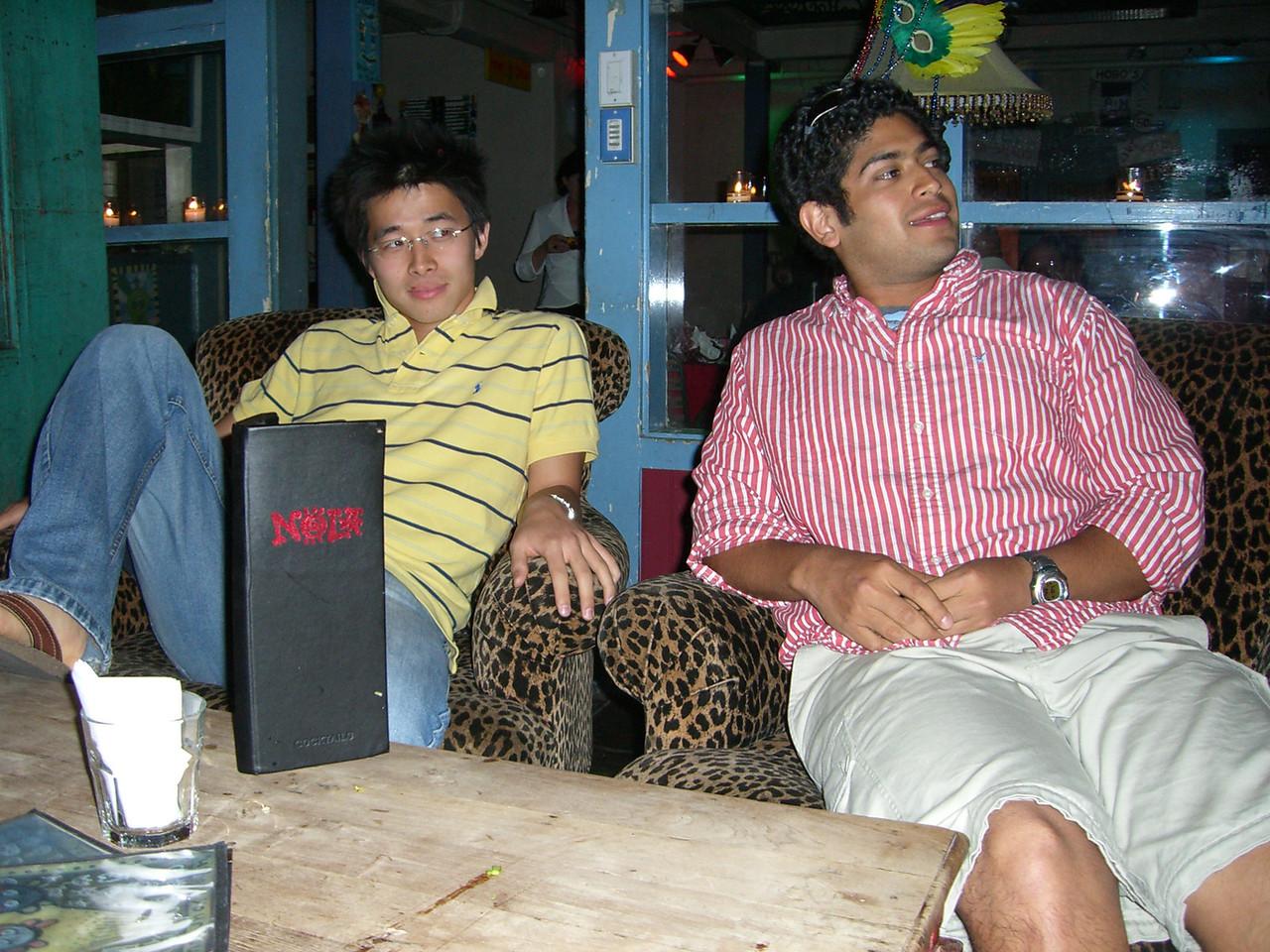 2006 05 24 Wed - Hyungsoo Kim & Pablo Pozo chillin' with Poon & I @ Nola's in Palo Alto