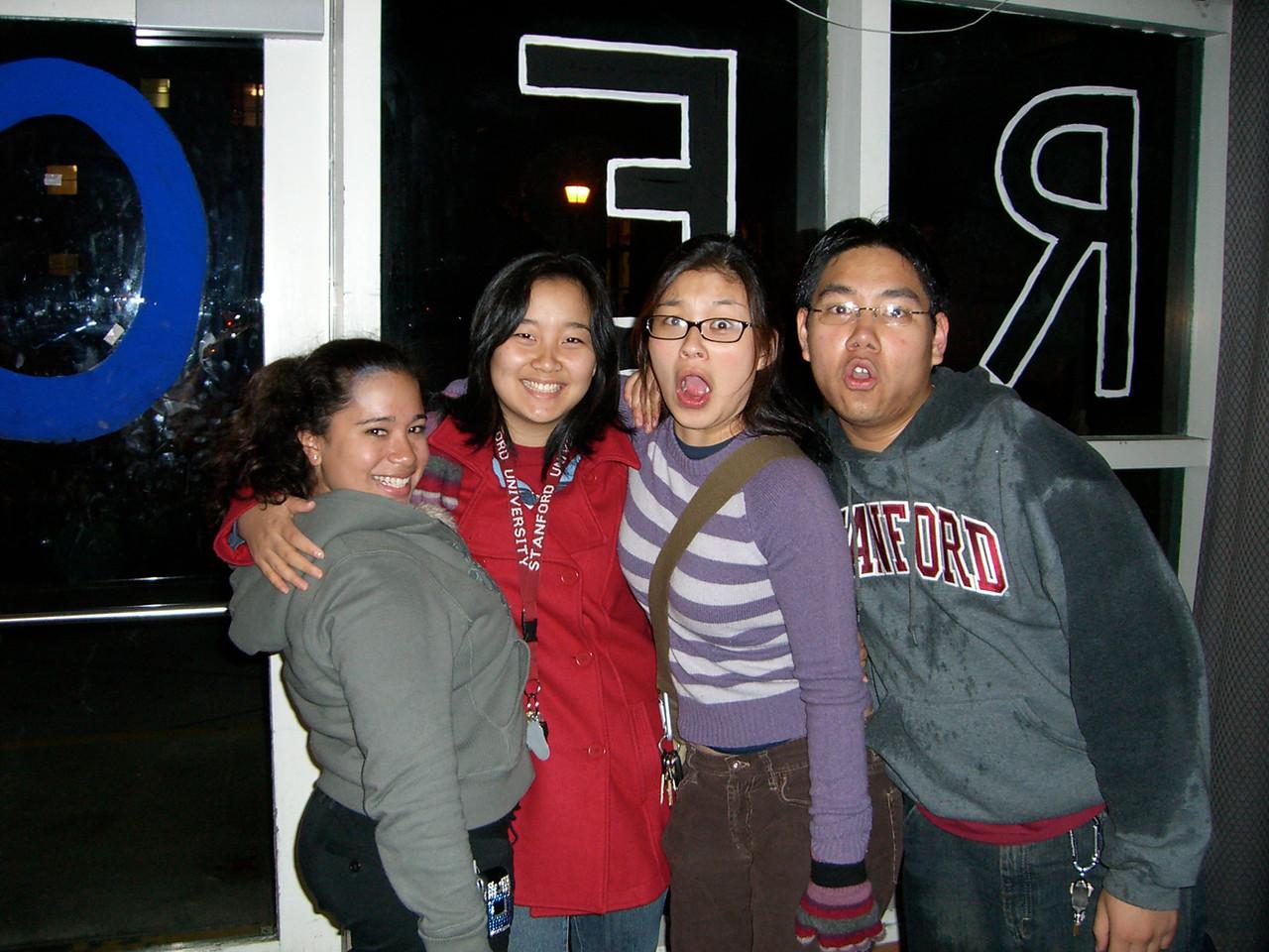 2006 03 01 Wed - David Chiang's B-day - Jennifer Evans, Esther Kang, Jenn Kim, & David Chiang
