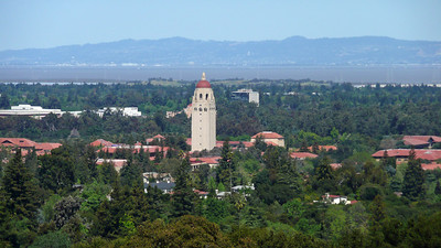 View from the Dish Trail.....that is Stanford's Hoover Tower.