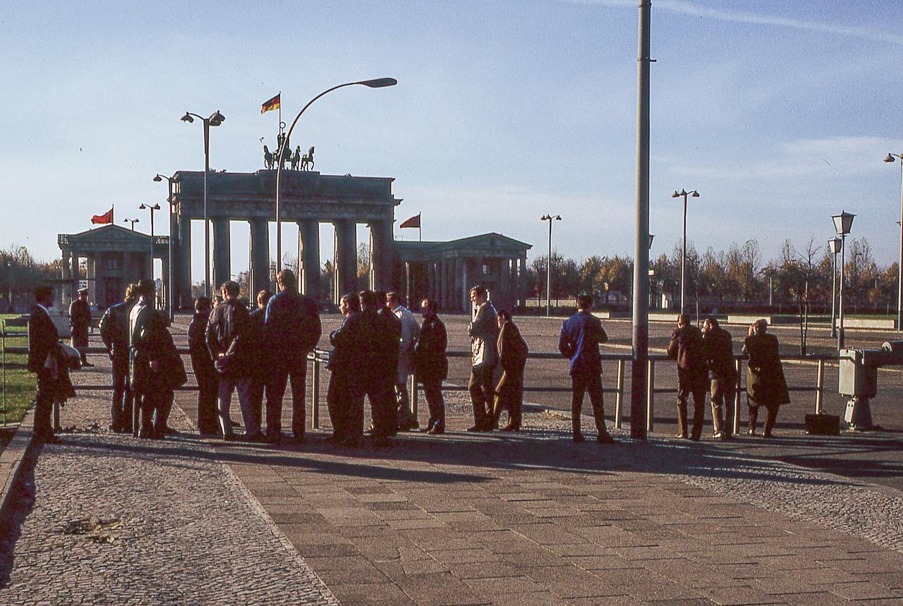 Stanford Students at Brandenburg Gate (East)