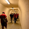 Tunnel to stadium