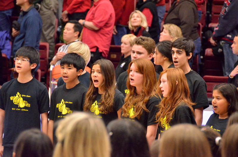 Fisher Middle School Choir from Los Gatos sang the anthem