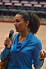 Then Ros Gold-Onwude, who had been heckling Kayla, was called over to tell the crowd what she's been up to.