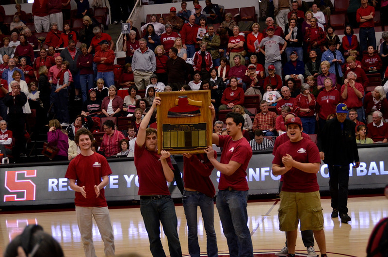 The Axe is displayed at halftime