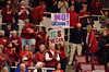 Signs: YES (stanford S) WE CAN -- NO UConn'T!