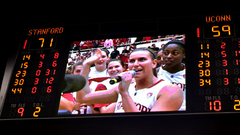 Final score, and Pohlen addressing the crowd.