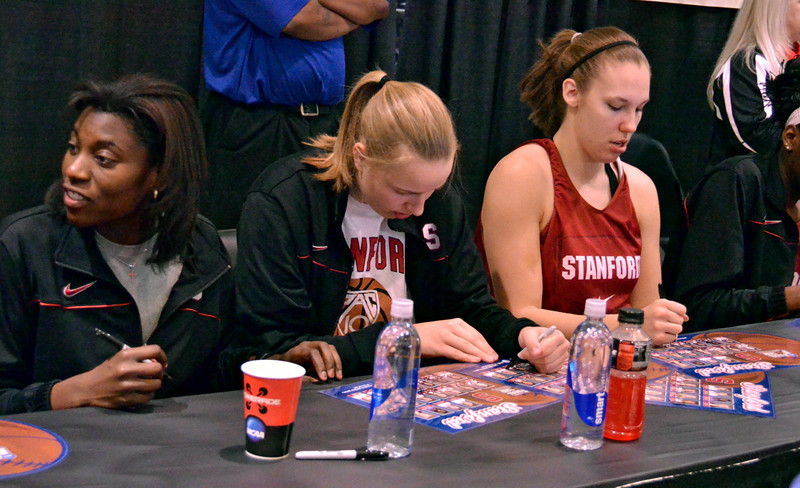 Signing autographs