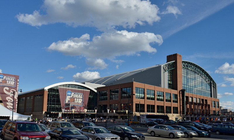 Conseco Fieldhouse on a nice afternoon